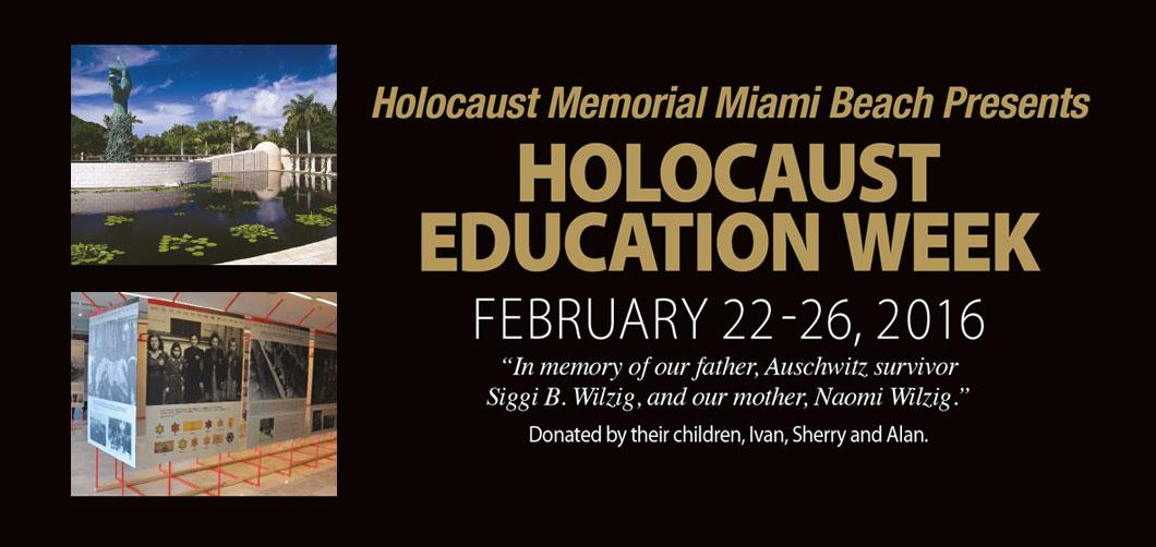 Holocaust Ed Week 2016